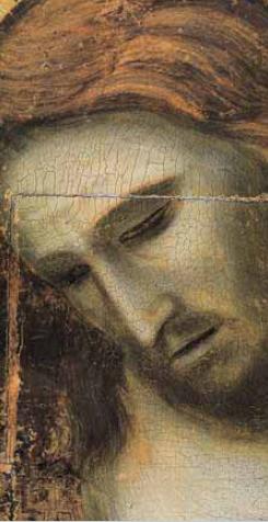 Giotto's remarkable crucifixion scene, which can be found in Rimini's Tempio Malatestiano