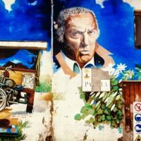 Fellini Inspired mural in Borgo San Giuliano Rimini