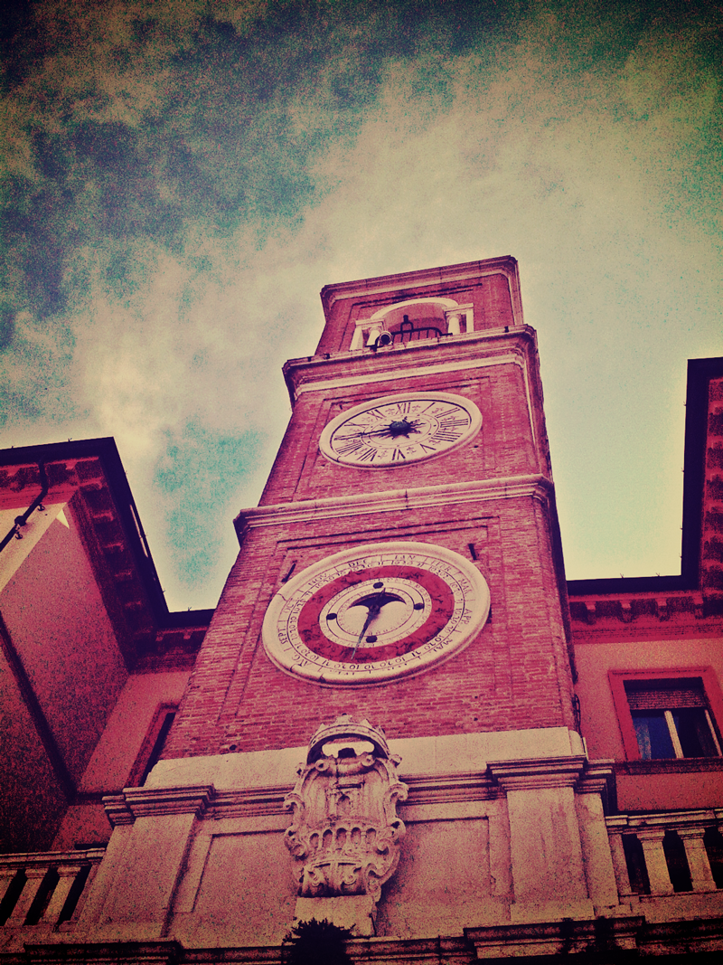 Piazza Tre Martiri's clock tower - la torre dell'Orologio