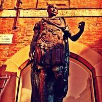 Julius Caesar Statue in Rimini's Piazza Tre Martiri