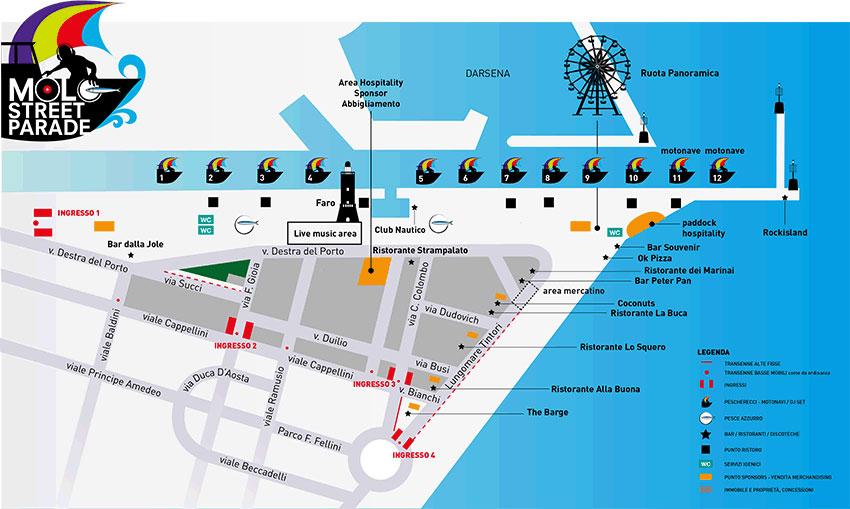 Molo Street Parade Map 2014 Visit Rimini