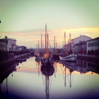 Cesenatico's Porto Canale in December