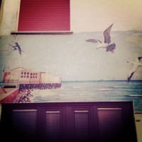 One of the many murals you'll see in Borgo San Giuliano - this one depicting the pier to Rock Island