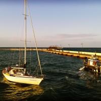 Rimini Harbour - boats entering the porto canale