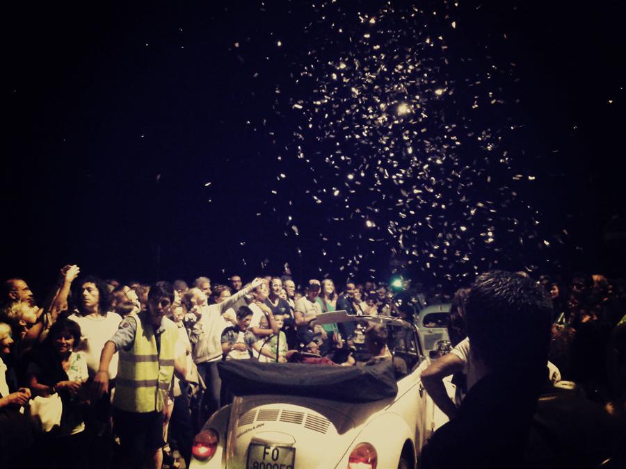 Celebrating the Festa de'Borg 2014, on the Ponte di Tiberio