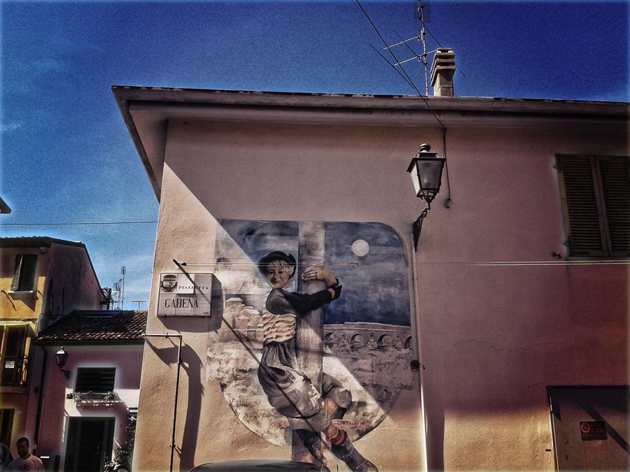 Gelsomina Mural - Piazzetta Gabena, Borgo San Giuliano, Rimini