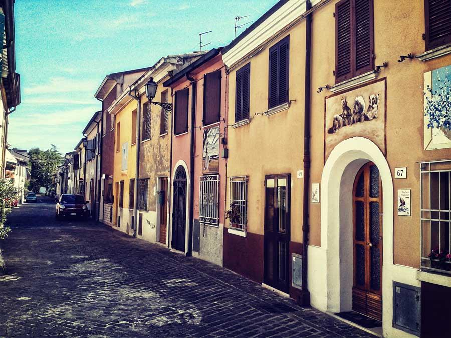 Via Marecchia, in the Borgo San Giuliano Rimini
