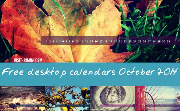 Free desktop calendars for October 2014