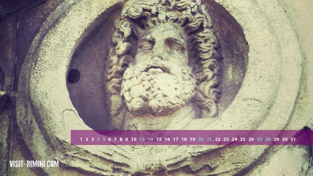 The Face of Jupiter, on Rimini's Arco d'Augusto