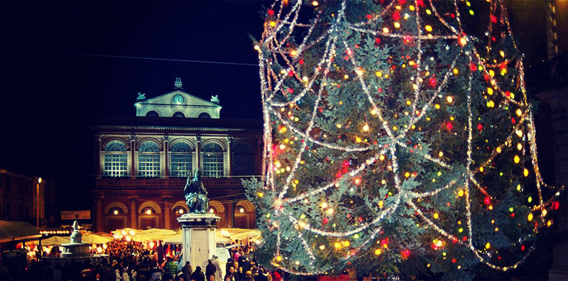 Christmas market in Piazza Cavour