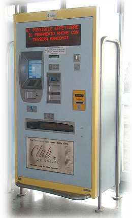 self-service ticket machine