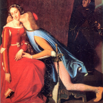 Paolo and Francesca painted by Jean Auguste Dominique Ingres