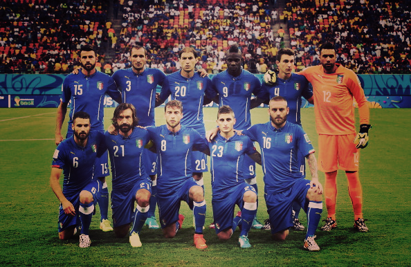The Italian team that played England