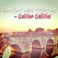 Wine is sunlight caught in water - Gallileo Galilei
