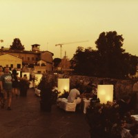 Rimini's Tiberius Bridge transformed for the p.assagi di vino festival