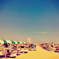 Rimini on the beach - july 2014