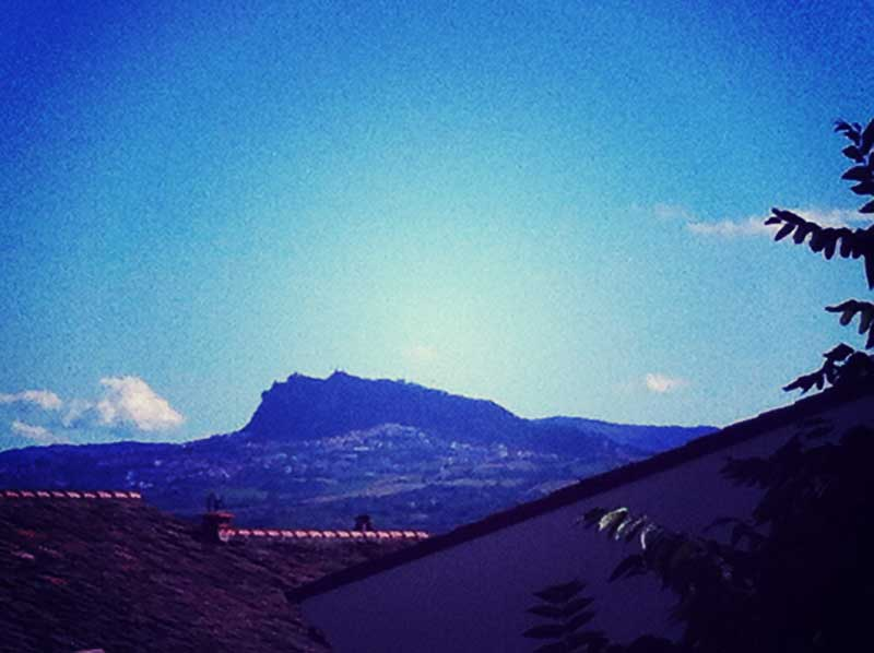 San Marino viewed from Santarcangelo di Romagna