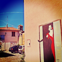 One of the murals painted in the Borgo San Giuliano