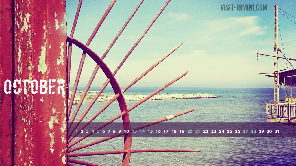 Rimini Seascape - a free desktop calendar for October 2014