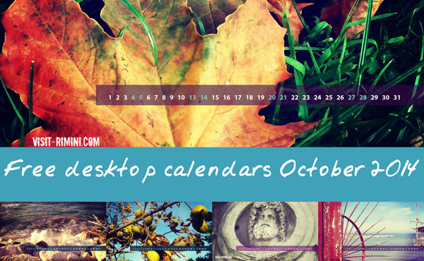 Free desktop calendars for October 2014