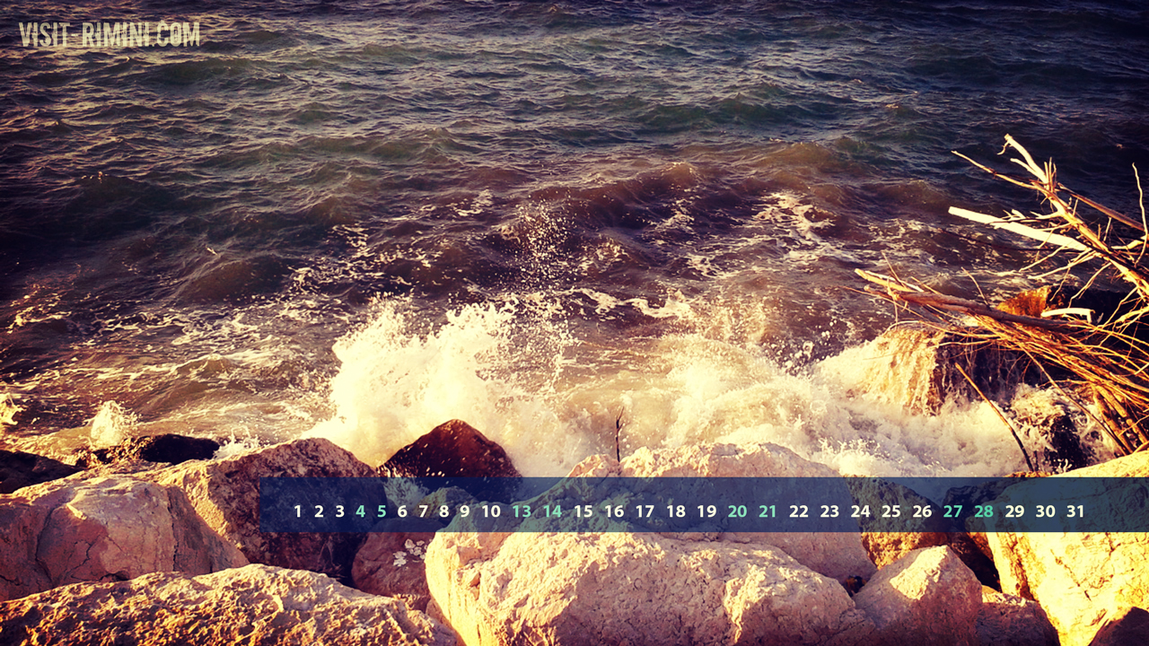 Rimini on the Rocks - Free desktop Calendar