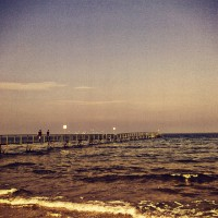 Rimini's seascape in the autumn